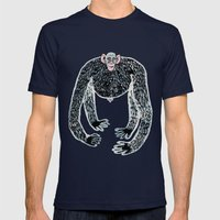 ape and his little friend Mens Fitted Tee Navy SMALL