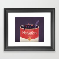 Helveti-soup Framed Art Print