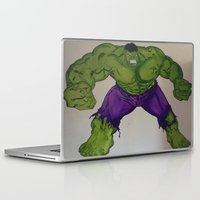 hulk Laptop & iPad Skins featuring Hulk  by Ellis Mural Designs