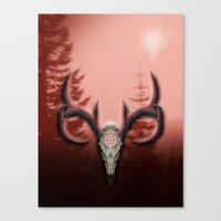 Warm Horns Canvas Print