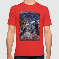 Godzilla Destroy All Mon… Mens Fitted Tee Red SMALL