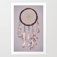 dreamcatcher purple Art Print