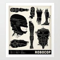 Decommissioned: Robocop Art Print