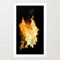 Face In The Flames Art Print