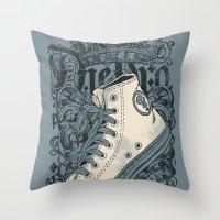 Old School King Throw Pillow