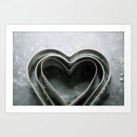 Hearts Together - Vintage Bakeware  Art Print