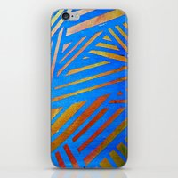Geometric Blue iPhone & iPod Skin