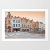 Brugge Architecture Art Print