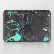 Grey And Blue Marble iPad Case