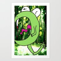 Vampire Fairy Frog Art Print