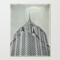 Vintage Chrysler Cuildin… Canvas Print