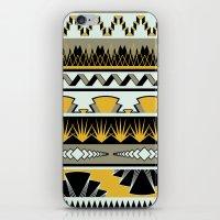 art deco stripes - honey iPhone & iPod Skin