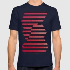 slyg stryyp Mens Fitted Tee Navy SMALL