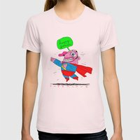 love will save the world Womens Fitted Tee Light Pink SMALL