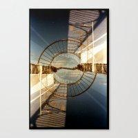 Landscapes c10 (35mm Double Exposure) Canvas Print
