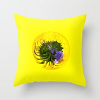 Bluebell In Dandelion G… Throw Pillow
