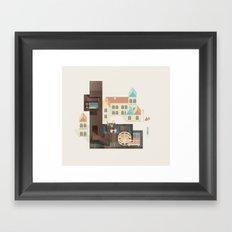 Resort Type - Letter L Framed Art Print