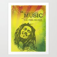 One Good Thing About Mus… Art Print