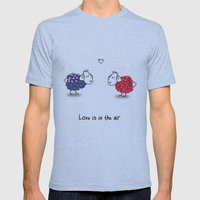 Love is in the air Mens Fitted Tee Athletic Blue SMALL