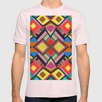 Color Play Mens Fitted Tee Light Pink SMALL