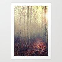 Path Through The Poplar … Art Print