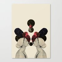 helen and clytemnestra Canvas Print