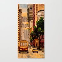 San Francisco Van Ness Cable Car Canvas Print