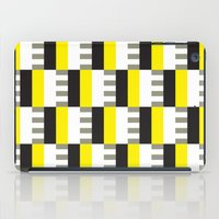 Yellow & black modernist pattern iPad Case