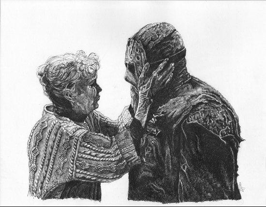 Jason and Mrs Voorhees Art Print
