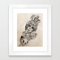 Sugar Skull Queen Framed Art Print