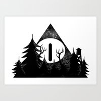 Bill Cipher: I'll Be Watching You Art Print