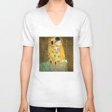 Gustav Klimt The Kiss Unisex V-Neck