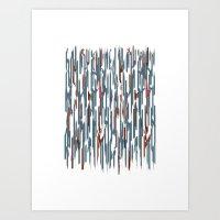 Autumn Lines Art Print