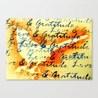 Love and Gratitude Canvas Print