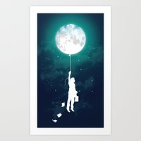 sky Art Prints featuring Burn the midnight oil  by Picomodi