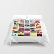 SH as flags Duvet Cover