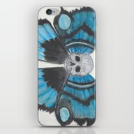 Skull With Butterfly Win… iPhone & iPod Skin
