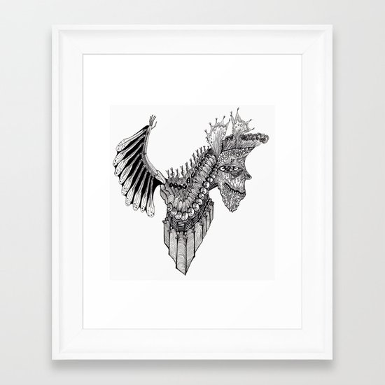 Penti-Bat Framed Art Print