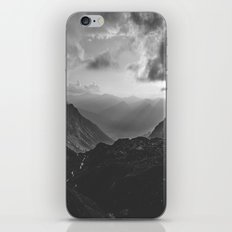 Valley - black and white landscape photography iPhone & iPod Skin