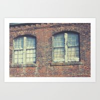 Old Mill Windows Art Print