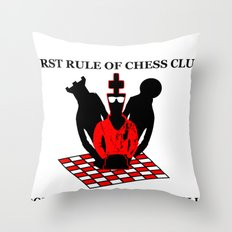 First Rule of Chess Club Throw Pillow