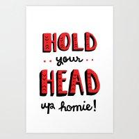 Head Up Art Print