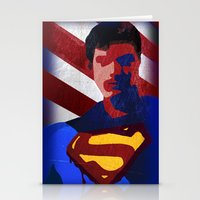 superman Stationery Cards featuring Superman by Scar Design