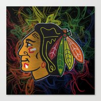 blackhawks swirl  Canvas Print