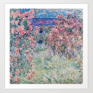 Art Print featuring The House Among The Rose… by Palazzo Art Gallery