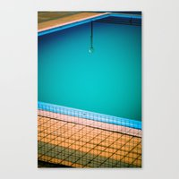 Lamp in swimming-pool Canvas Print