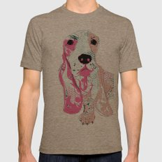 Basset Mens Fitted Tee Tri-Coffee SMALL