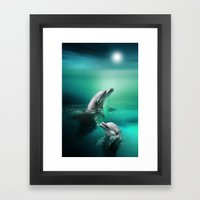 Dolphin Delights Framed Art Print