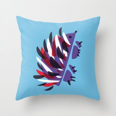Colorful Abstract Hedgehog Throw Pillow