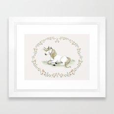 Unicorn. Framed Art Print